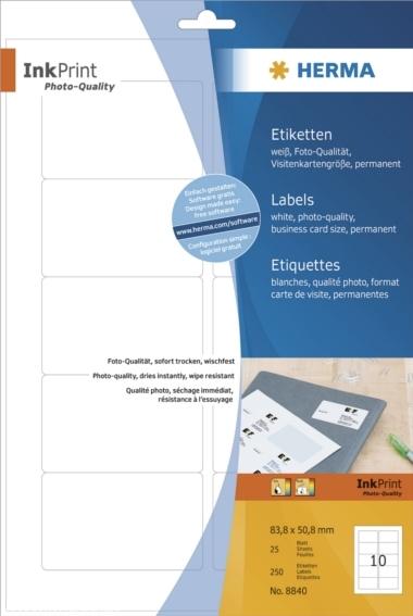 Herma 8840 Etykiety Inkprint 83 8 X 50 8 Mm 25 Ark A4